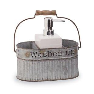 Galvanized Tin Farmhouse Soap Pump 2 Piece Bathroom Accessory Set