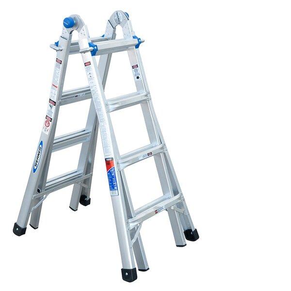 Werner 17 Ft Aluminum Telescoping Multi Position Ladder