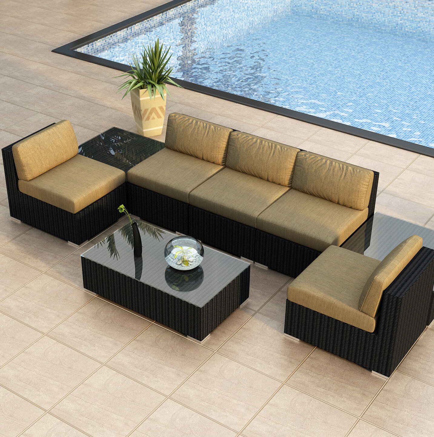 Fine Azariah 8 Piece Sectional Set With Cushions Alphanode Cool Chair Designs And Ideas Alphanodeonline