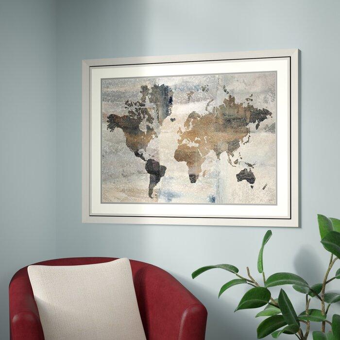 Trent austin design stone world map framed graphic art print stone world map framed graphic art print gumiabroncs Choice Image