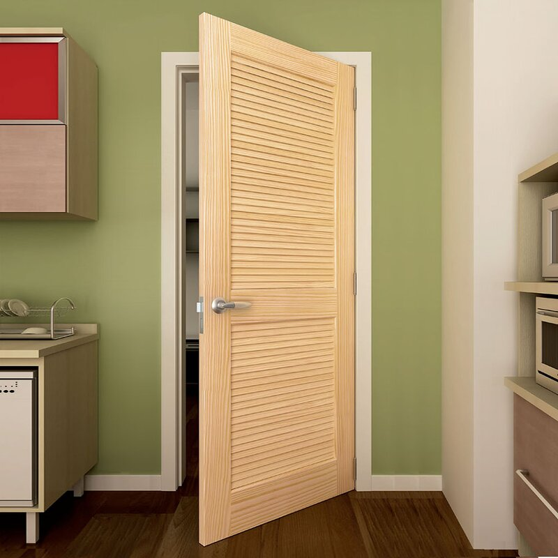 Solid Wood Louvered Slab Interior Door