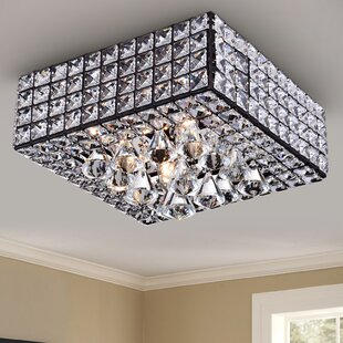 Thora 4 Light Crystal Flush Mount