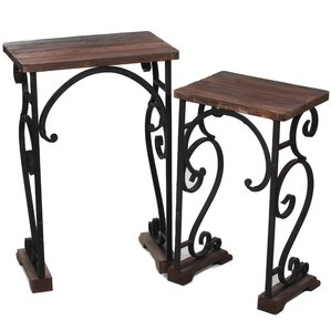 2 Piece End Table Set by ESSENTIAL D?COR & BEYOND, INC