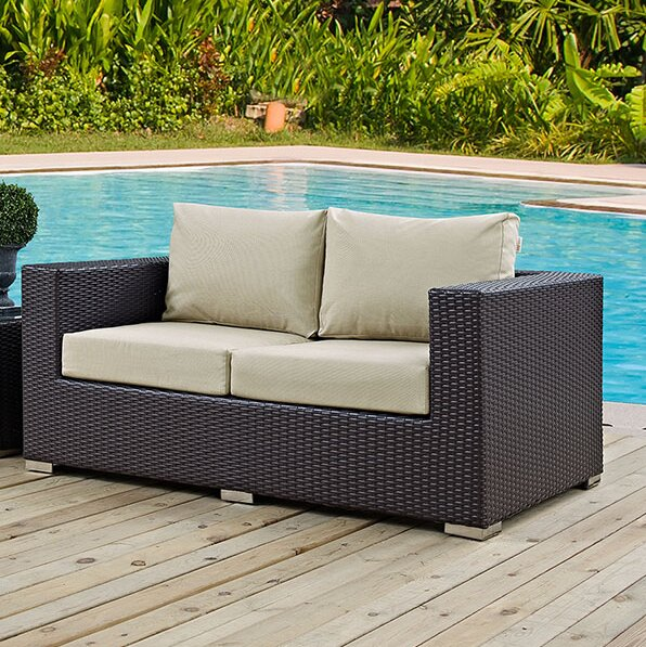 Provencher Patio Loveseat With Cushions
