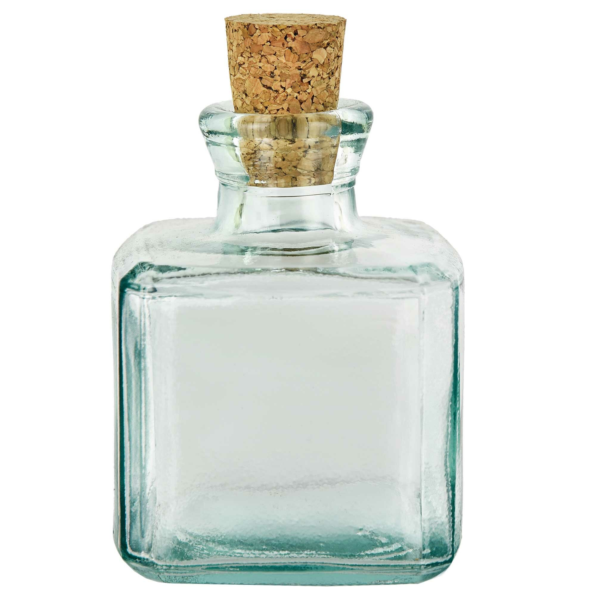 6511dee386fd Cubic Recycled with Cork Decorative Bottle
