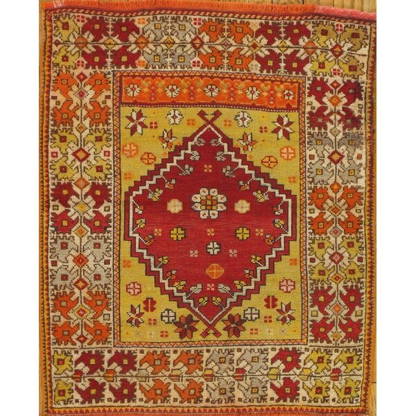Pasargad Sivas Antique Hand Knotted Wool Redyellow Area Rug Perigold