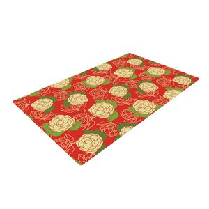 Holly Helgeson Cammelia Red/Yellow Area Rug