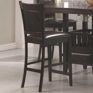 Marchant Vinyl Padded Seat and Back Bar Stool (Set of 2)