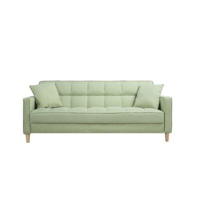 madison home usa modern linen fabric tufted small space sofa