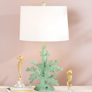 Coral table lamp wayfair brinkmann coral 28 table lamp mozeypictures Images