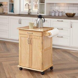 Athena Kitchen Cart by Alcott Hill