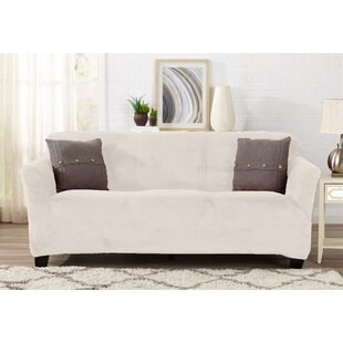 Merveilleux Velvet Plush Form Fit T Cushion Sofa Slipcover