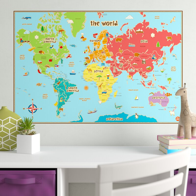 Viv Rae Lucas World Map Wall Decal Reviews Wayfair