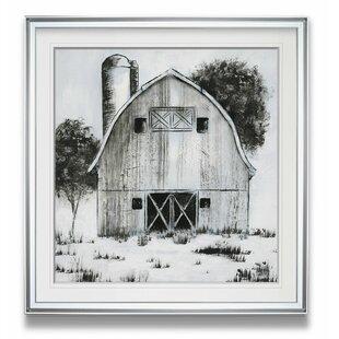 47b7cfd2987  Black   White Barn I  Framed Graphic Art Print