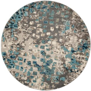 Indira Gray Light Blue Area Rug