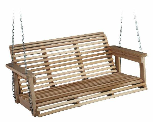 defaultname - Wooden Porch Swing