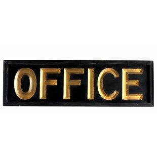 Merveilleux Wooden Office Sign Wall Décor