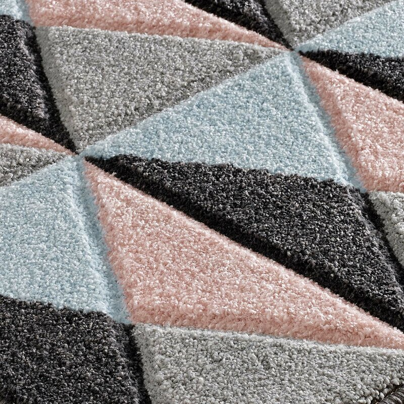 metro lane teppich meredith in rosa blau grau. Black Bedroom Furniture Sets. Home Design Ideas