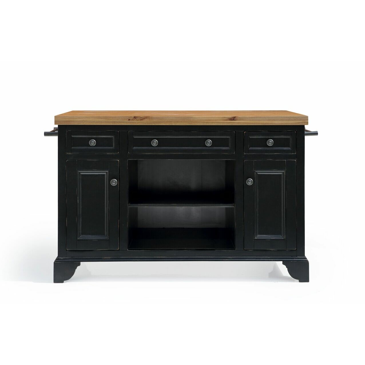 Sutton Kitchen Island With Wood Top