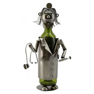 Lady Doctor 1 Bottle Tabletop Wine Rack