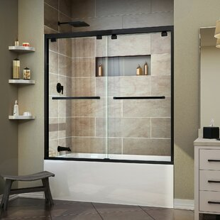tub glass sliding enclosure bathtub bathroom round enclosures door frameless doors with shower