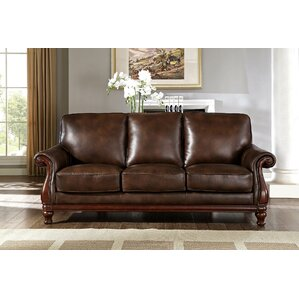 Autumn Top Grain Leather Sofa by Fleur De Lis Living