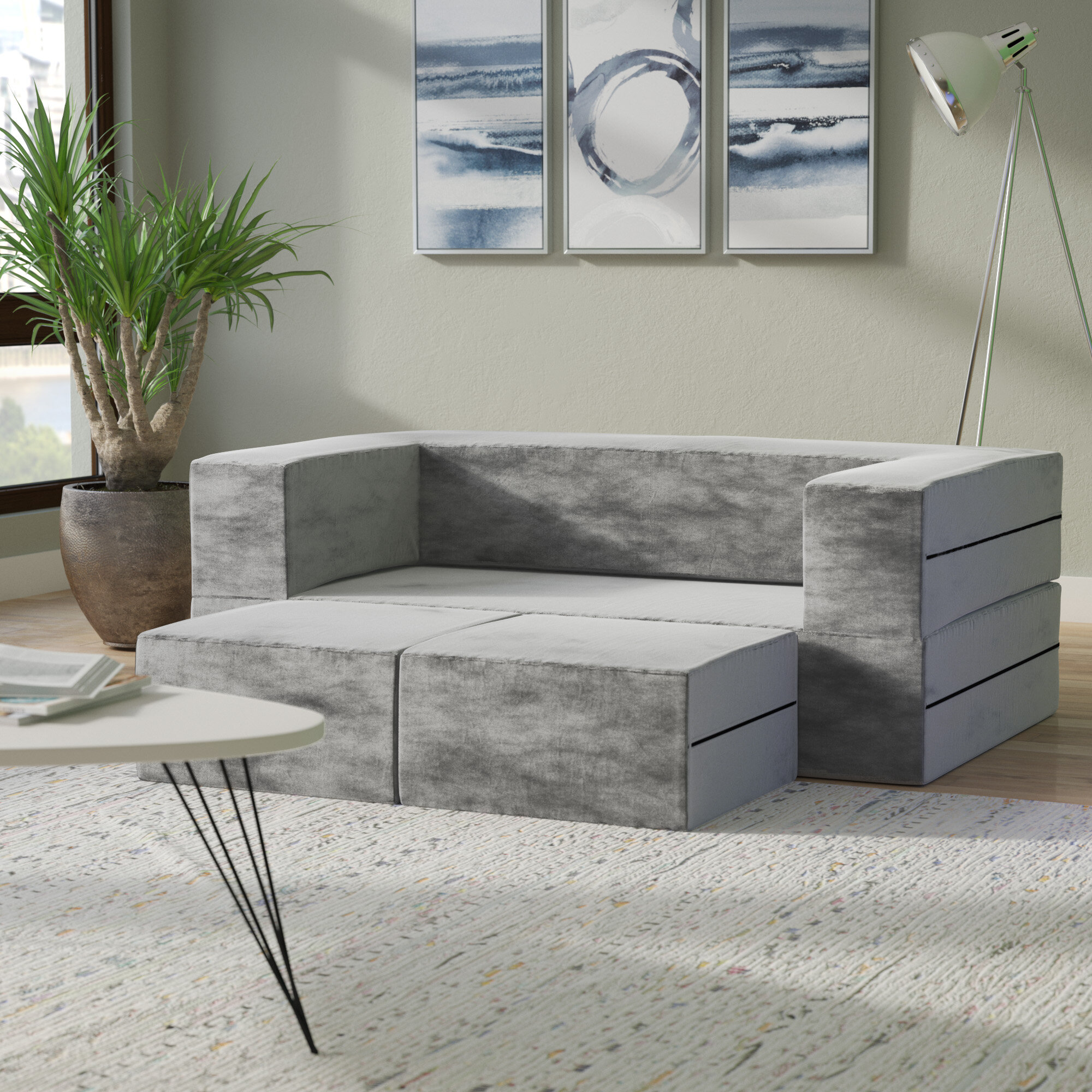fabric loveseat sofa steal grey ottoman ideas of a photo and design set best montreal