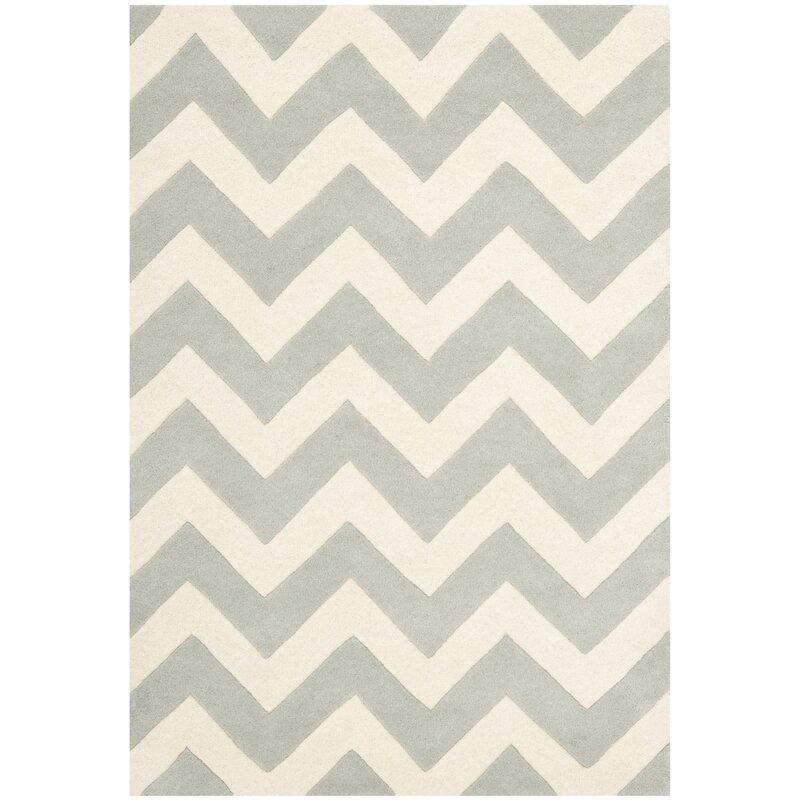 safavieh handgefertigter teppich bryant aus wolle in grau. Black Bedroom Furniture Sets. Home Design Ideas