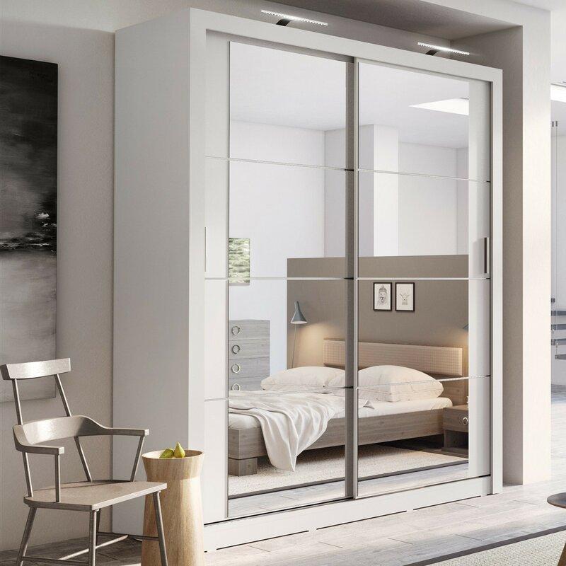 Bedroom Armoires Bedroom Cupboard Door Designs Dim Lighting Bedroom Orange Accent Wall Bedroom: Brayden Studio Tengan 2 Door Sliding Wardrobe & Reviews