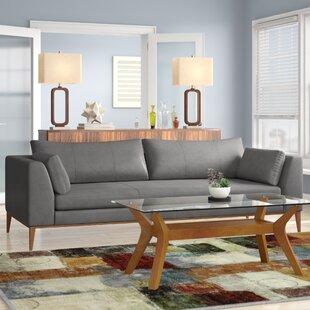 Foundry Select Correia Leather Sofa Wayfair