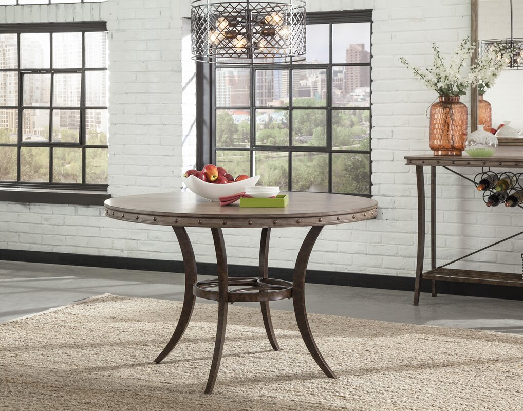 Loon Peak Luxton Round Dining Table Reviews Wayfair