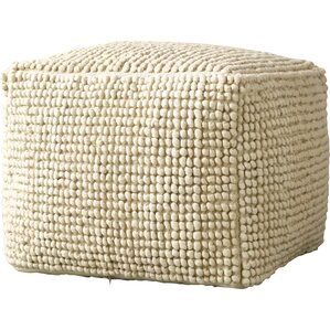 Pure Wool and Cotton Ottoman by Creative Co-Op