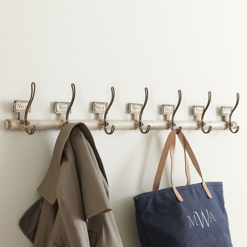 Coat Hook birch lane™ rustic numbered coat hooks & reviews | wayfair