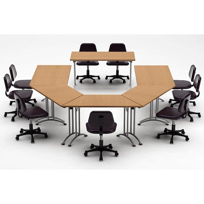Ordinaire Team Tables Meeting Seminar 6 Piece Half Round 30 H X 120 W 180 L