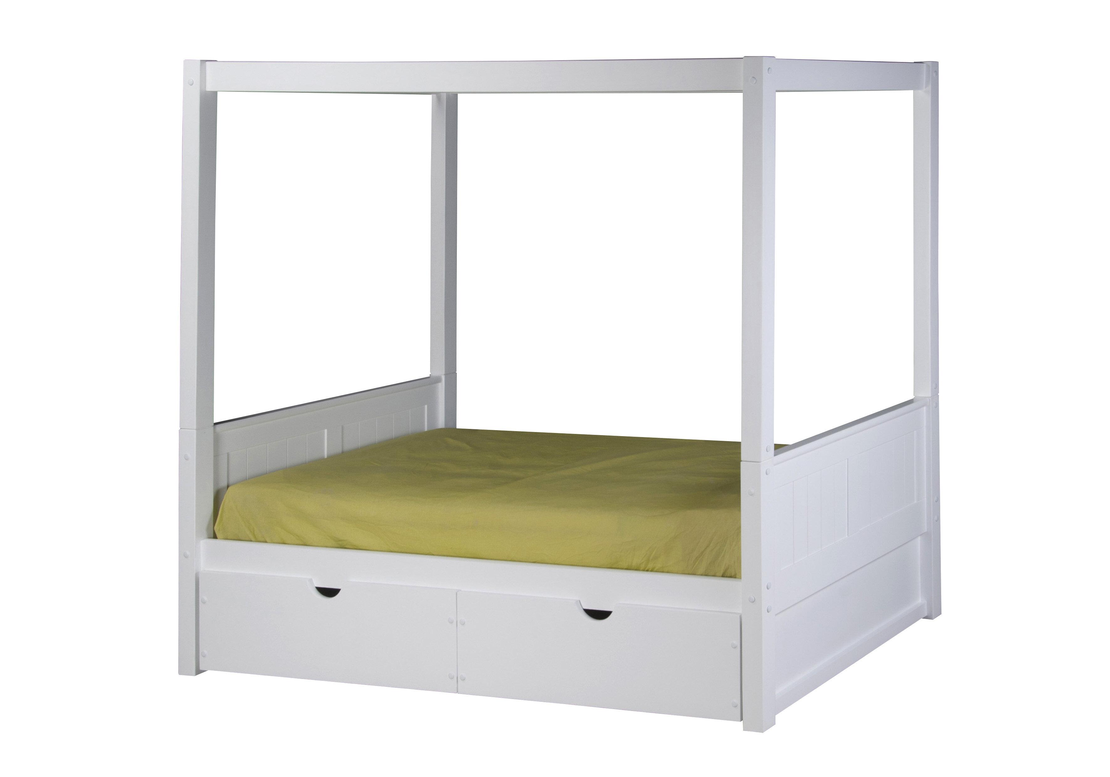 Harriet Bee Oakwood Twin Canopy Bed & Reviews | Wayfair