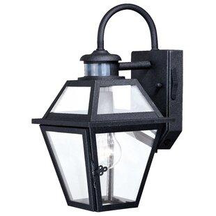 Outdoor Motion Detector Lights Motion sensor outdoor wall lighting youll love wayfair douglas forge outdoor wall lantern with motion sensor workwithnaturefo
