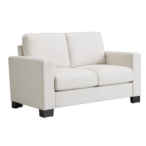 Armour Down-filled Linen Loveseat by Mercury Row