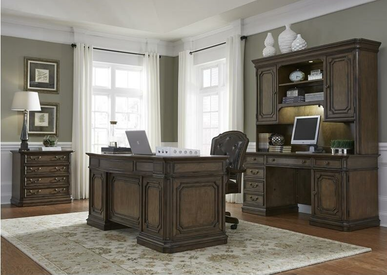 default_name - August Grove Passabe Executive Desk With Hutch & Reviews Wayfair