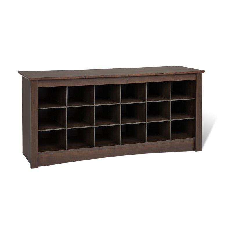 sybil wood storage bench