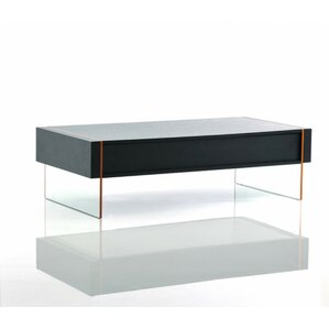 Camron Modern Rectangle Glass Base Coffee Table by Orren Ellis