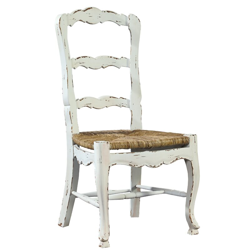 Nice French Ladder Back Solid Wood Dining Chair
