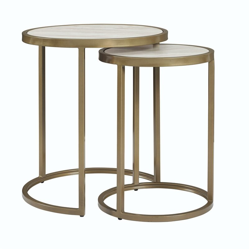 nesting tables. Selzer 2 Piece Nesting Tables
