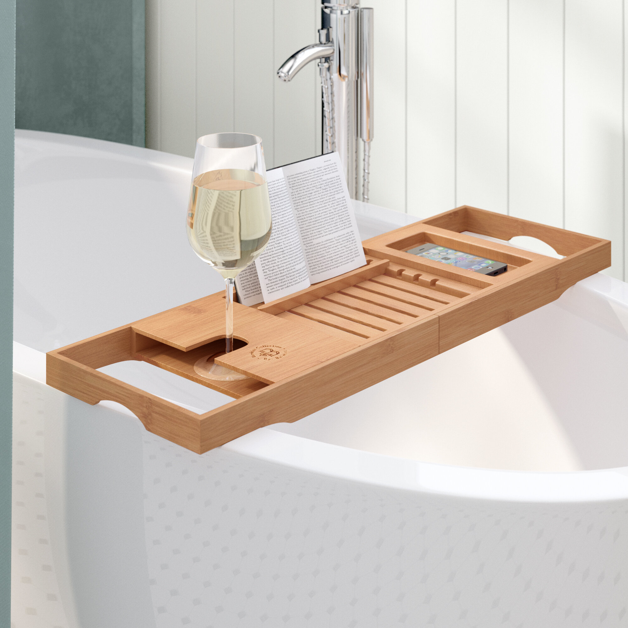 The Twillery Co. Elledge Bamboo Bath Caddy & Reviews | Wayfair