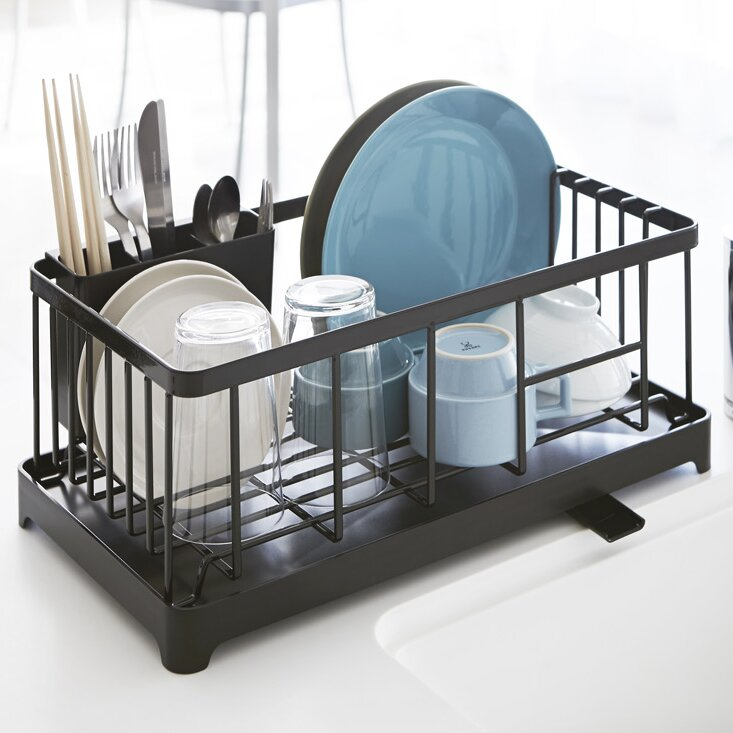 Kitchen Details In Sink Compact Dish Drainer Black