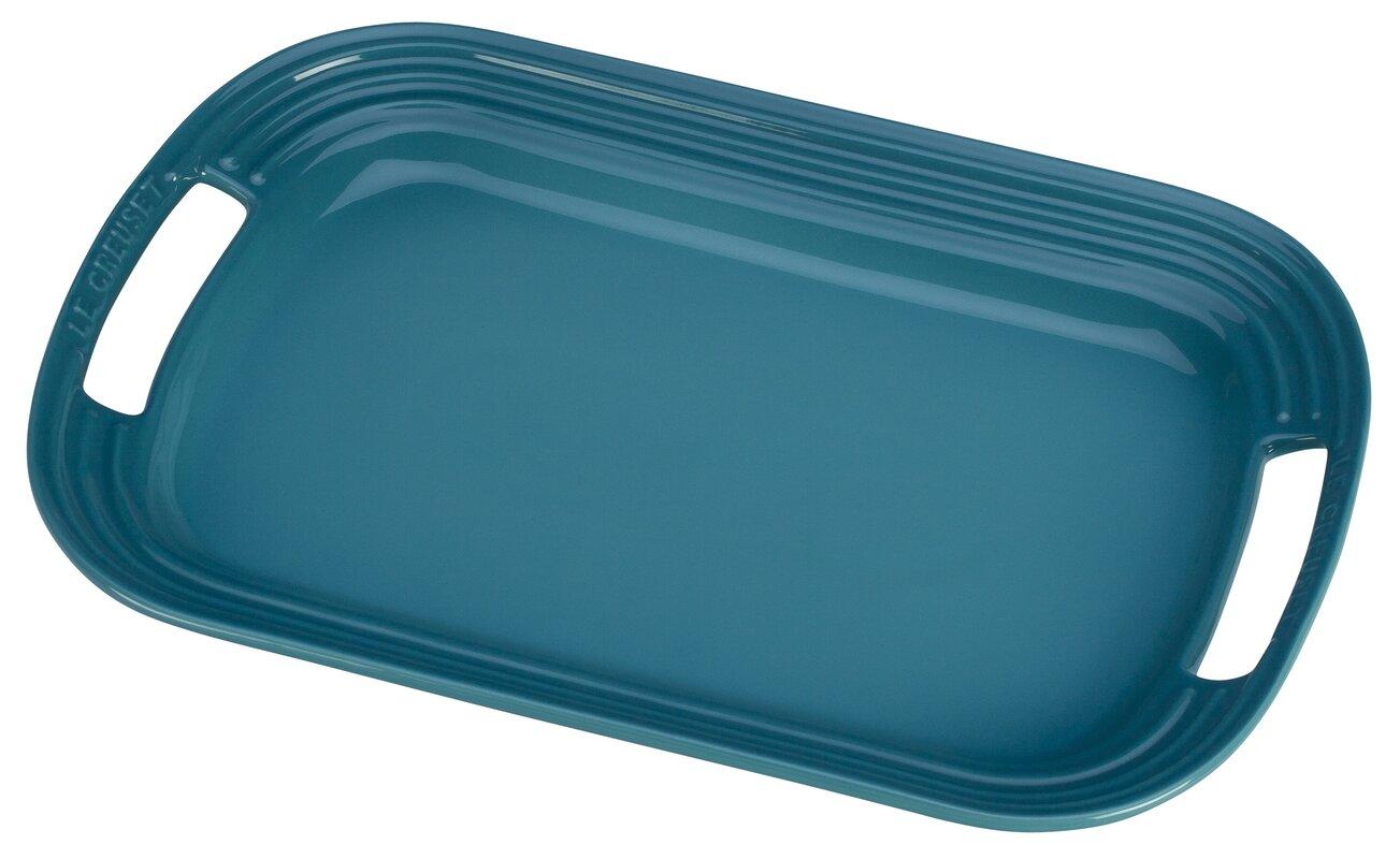 stoneware rectangular serving tray