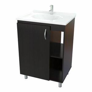 espresso vanity set with bench. 24  Bathroom Single Vanity Set Modern Vanities Cabinets AllModern