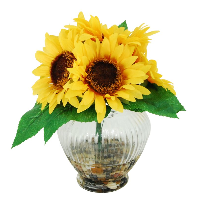Lcgflorals River Rocks And Sunflowers Floral Arrangements In