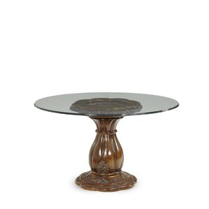 Lavelle Round Glass Top Dining Table by Michael Amini (AICO)