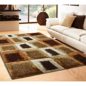 Rosati Hand Tufted Brown Area Rug