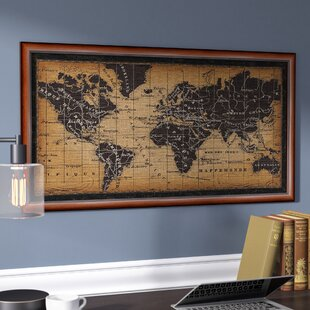 World map mirror wayfair old world map framed graphic art gumiabroncs Images